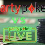party poker vs party poker live