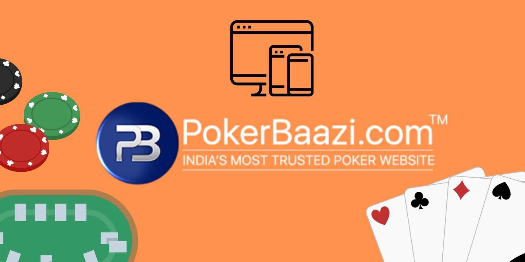 Playing process on PokerBaazi poker platform